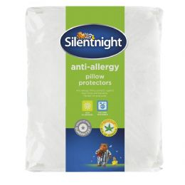 Silentnight Silent Night White Anti Allergy Pillow Protectors, Pack of Two